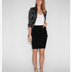 Express High Waisted Pleated Pencil Skirt